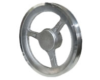 Polia de Aluminio Raiada